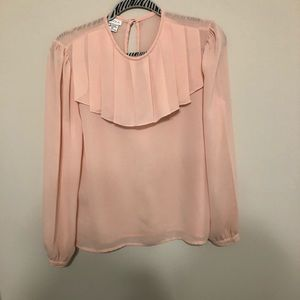 ⚡️ Sheer Pink Ruffled Blouse ⚡️